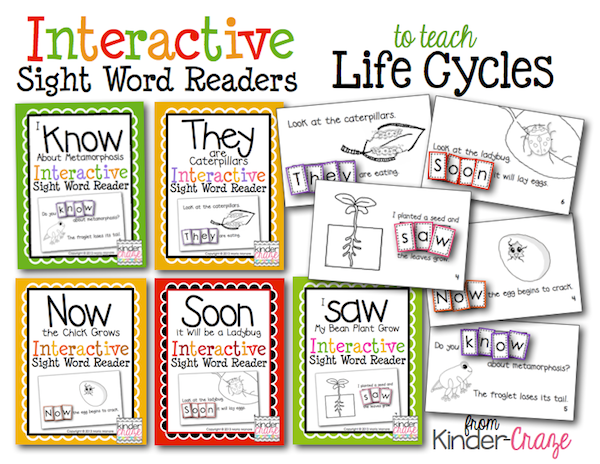 Emergent Readers about Life Cycles... so cute and only $1 each