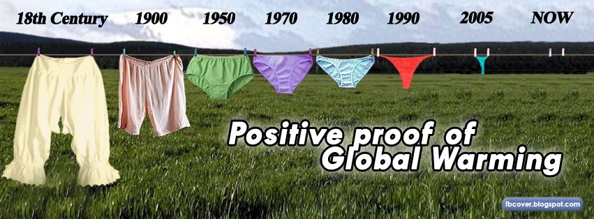 Positive proof of global warming 18th century till now fb cover