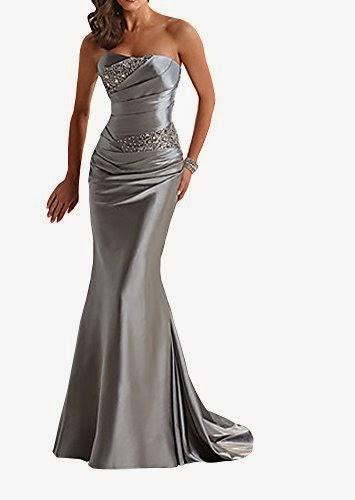 Women's Floor Length Strapless Evening Party Bridesmaid Dresses