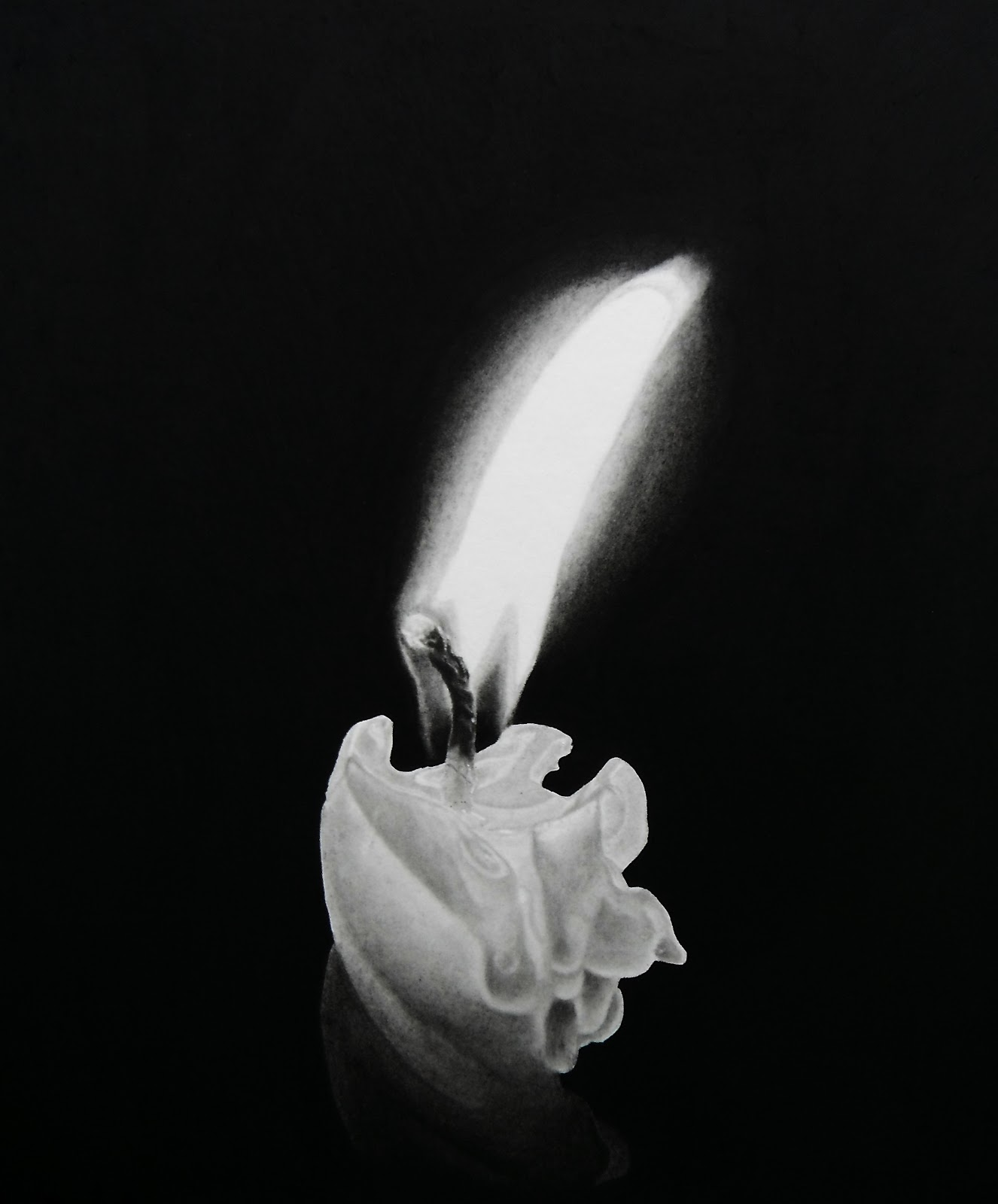 15-Iluminacion-Candle-Norlan-Vilchez-Cultural-Diversity-Drawings-with-Charcoal-and-Graphite-www-designstack-co