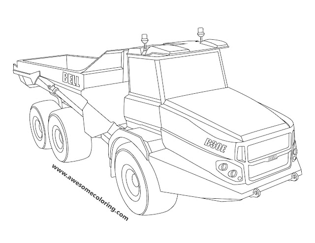 Bell Articulated Truck Coloring Page