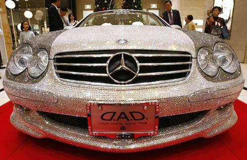 Most expensive car swarovski studded mercedes sl600 indi for The most expensive mercedes benz