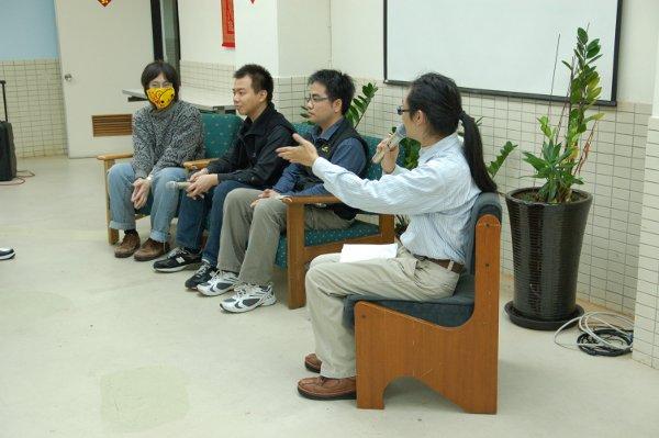 座談會講師,由左至右分別為魔法設計師、TX55、安可以及主持人 Reke