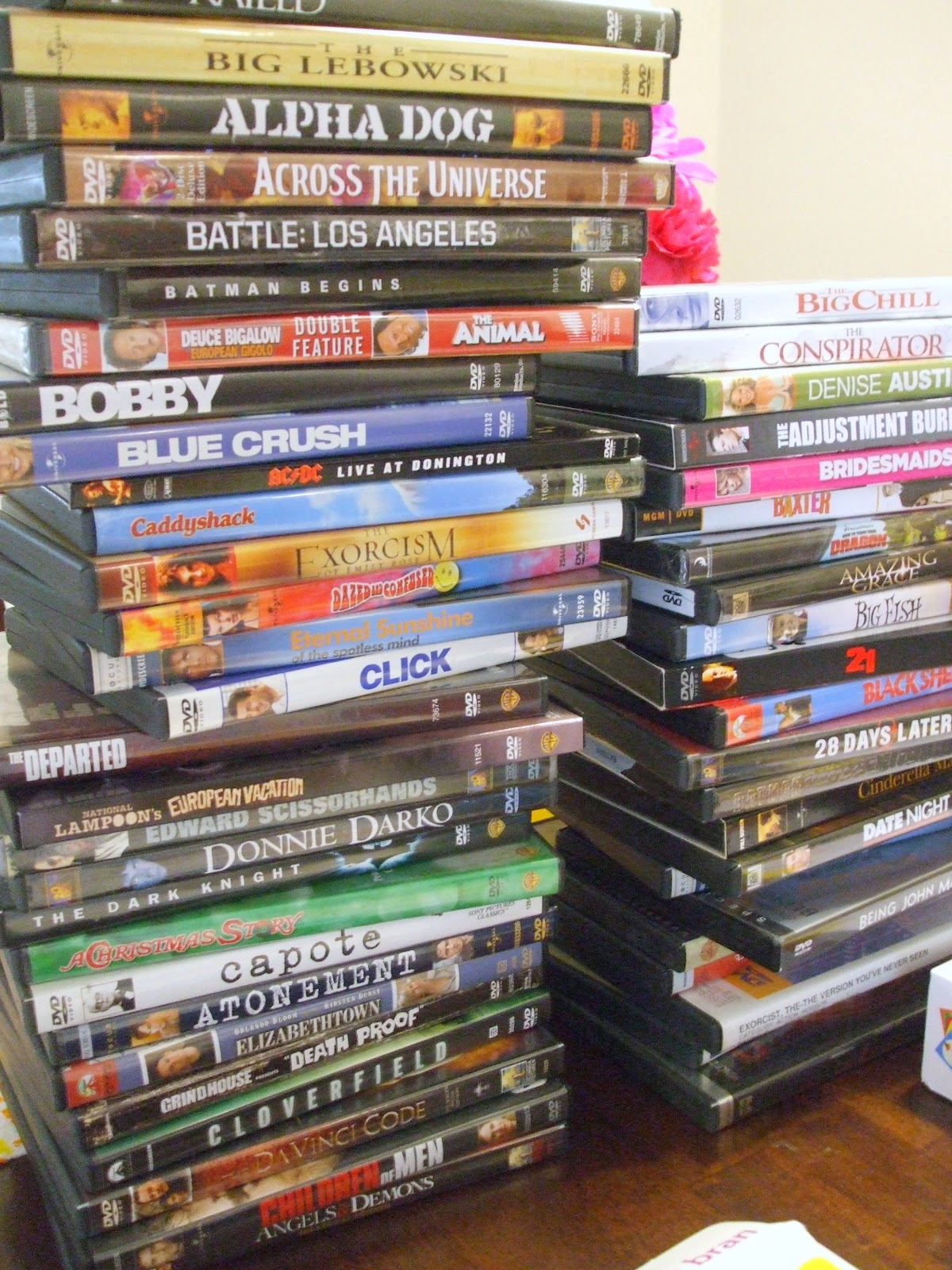 You will need your DVDs. Part of my organization was to alphabetize  title=