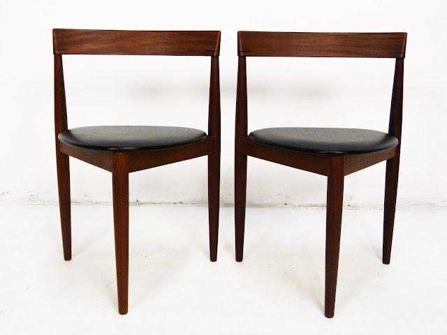 Frem Rojle Danish Modern Teak three leg chair