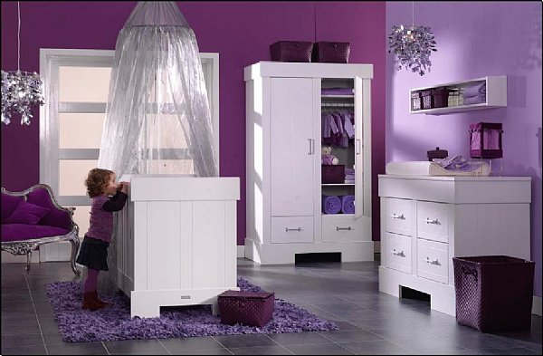 id e chambre fille violet. Black Bedroom Furniture Sets. Home Design Ideas