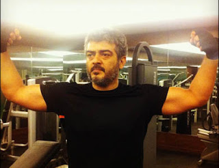 Ajith Gym Work Out Stills