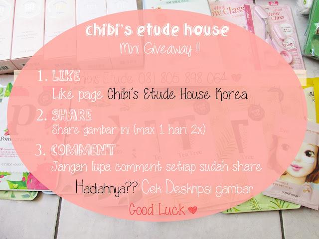 etude house, jual etude murah, etude murah, jual etude semarang, giveaway, giveaway etude, giveaway 2013