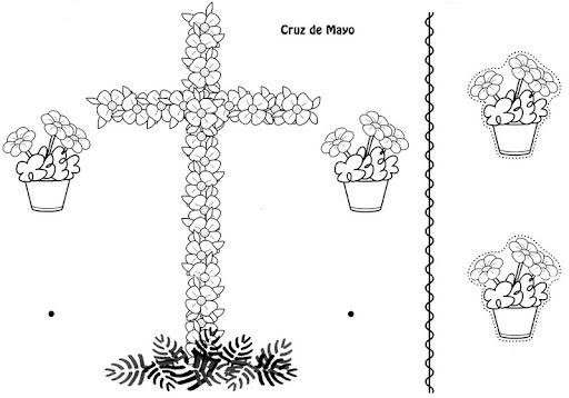 Cruces de Mayo. Historia y Materiales para colorear | S & C