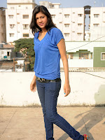 Sneha Tagore Photo shoot in Blue-cover-photo
