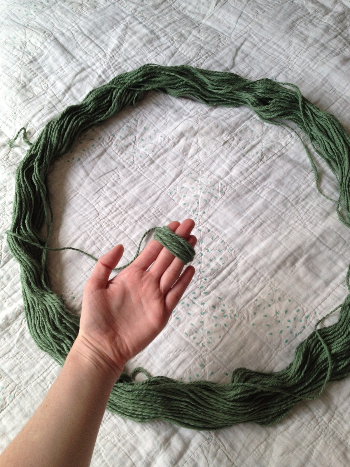 WIND YARN ON YOUR FINGERS