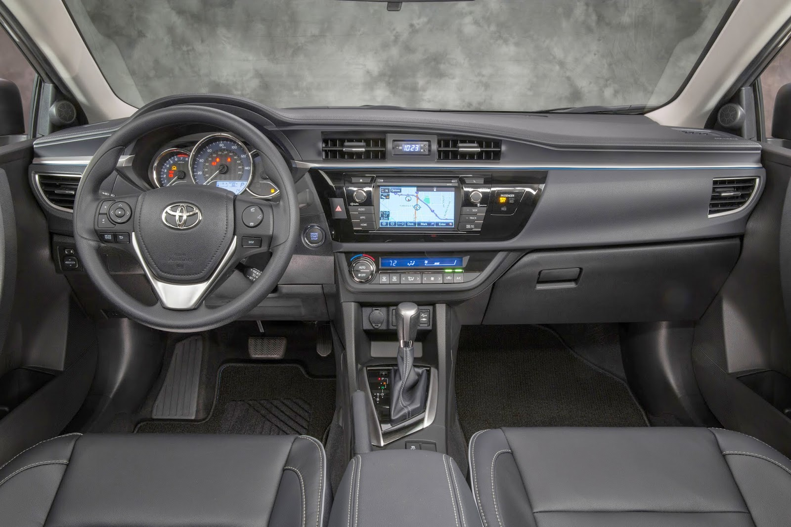 Interior view of 2014 Toyota Corolla LE ECO