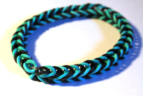 Rainbow Elastic Band Bracelet with metal jump ring