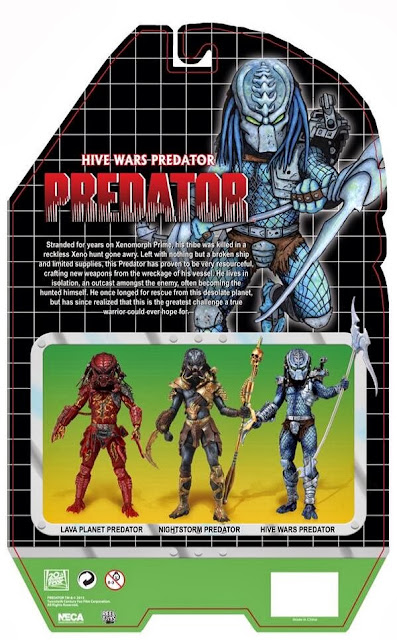 NECA Predator Series 10 Hive Wars Predator Card Back Packaging