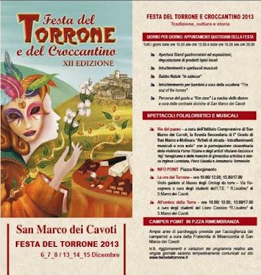 Festa del Torrone e del Croccantino a San Marco dei Cavoti 2013