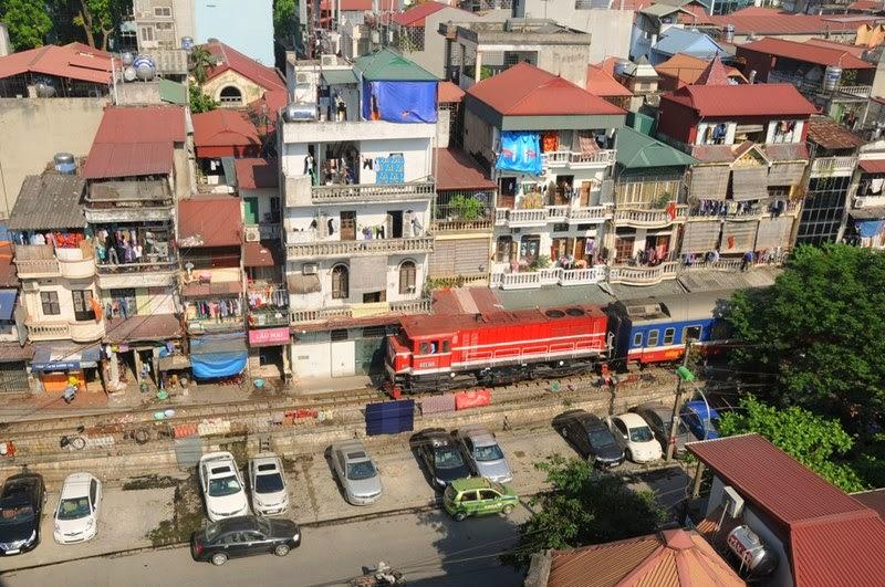 Passageway Train Track of Hanoi, Vietnam
