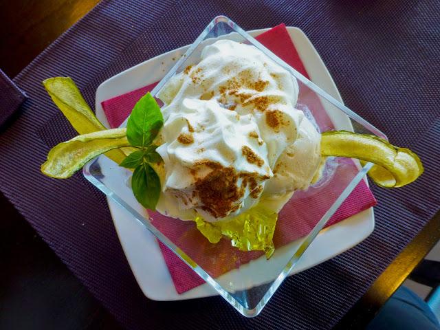 Helado de Canela, Restaurante el Jardín de la Sal, La Palma