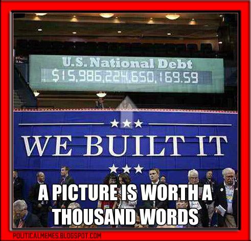 republicans built the debt