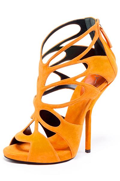 Giuseppe Zanotti orange Suede Cage Sandals