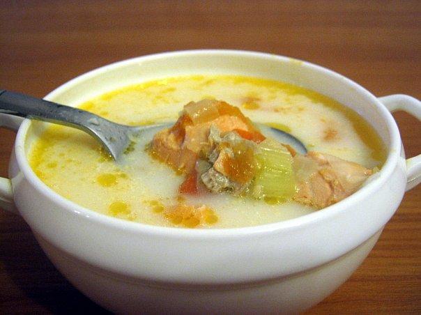 Сливочный суп с форелью рецепт с фото