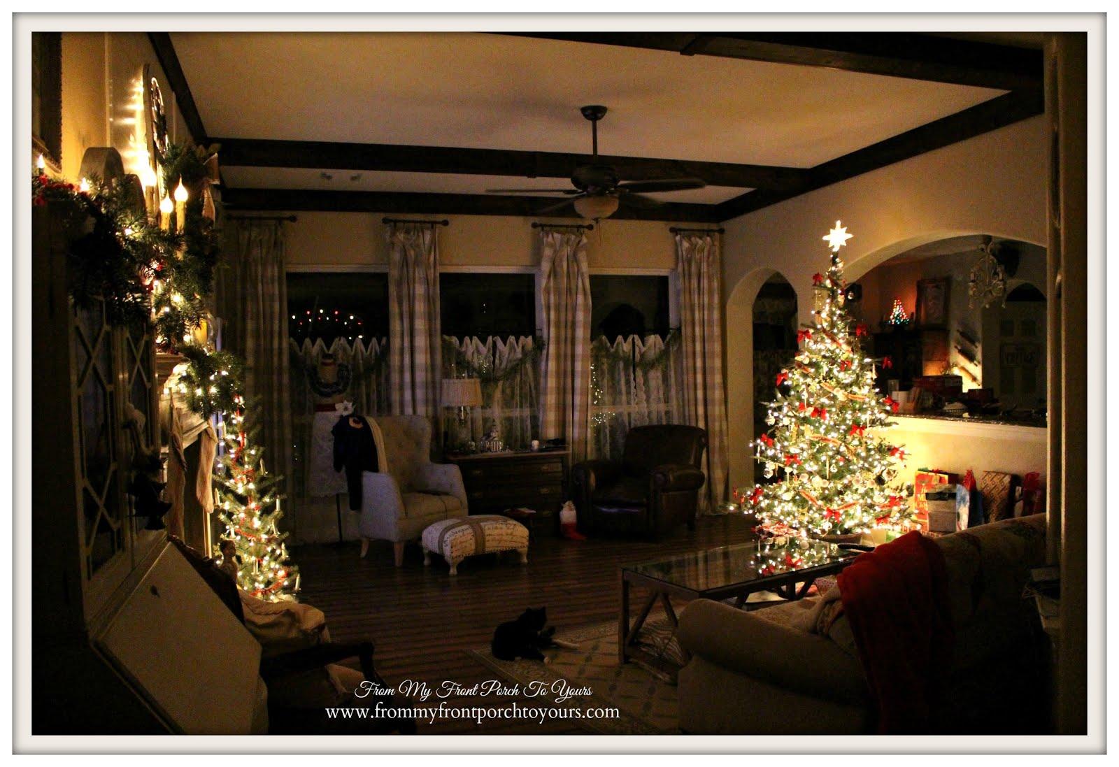 Farmhouse christmas living room diy wood beams farmhouse christmas
