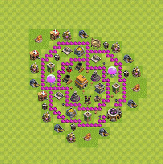 Formasi Base Trophy Clash of Clans TH6