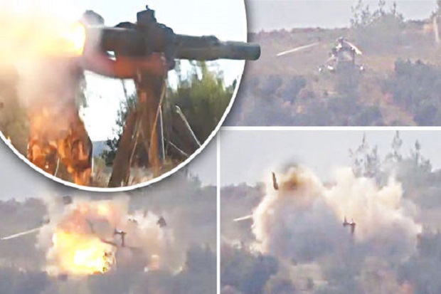 Helikopter Rusia Jatuh di Tembak Mujahdin Islam Suriah