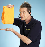 The Shamwow guy hawking his product
