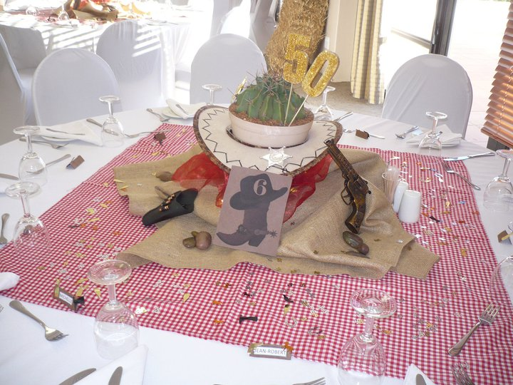 ... together some table centre peices for him this is what i came up with