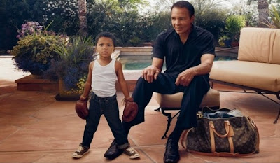 Muhammed Ali and Grandson in New Louis Vuitton Ad