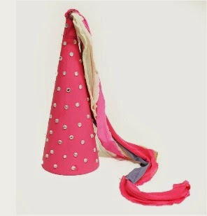 princess cone hat template - kids hat making crafts munchkins and mayhem