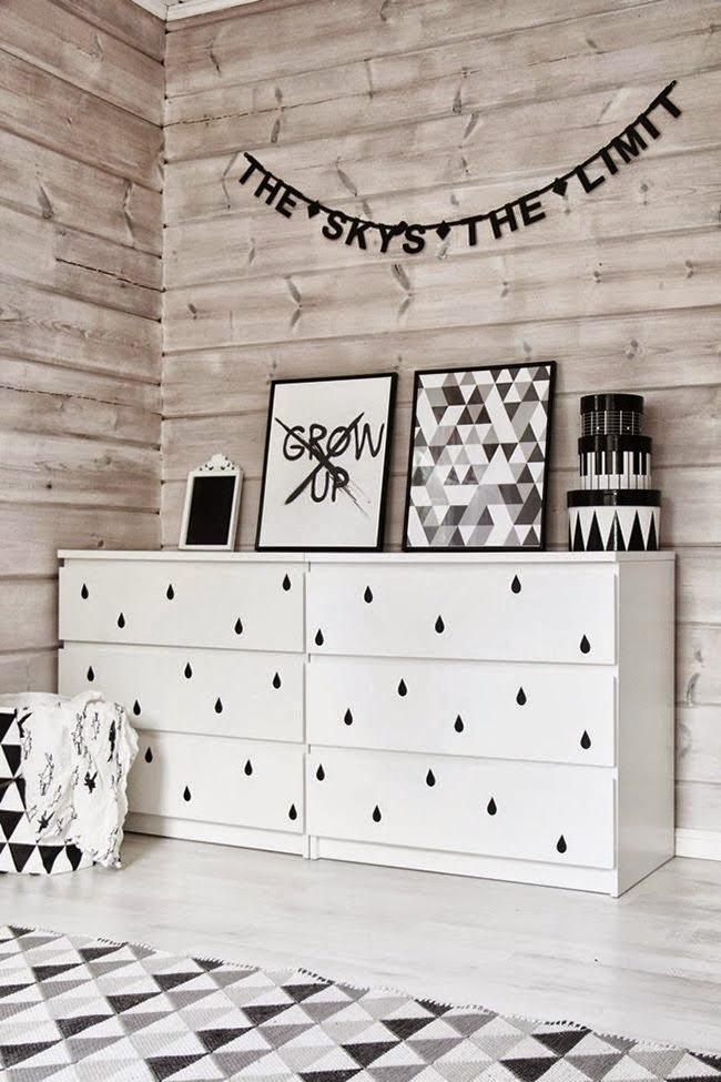 Loulou gatou 8 fa ons de customiser votre commode malm de for Customiser des meubles