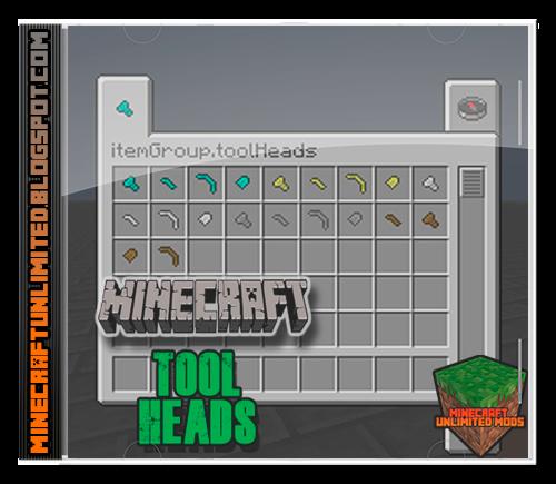 Tool Heads Mod Minecraft