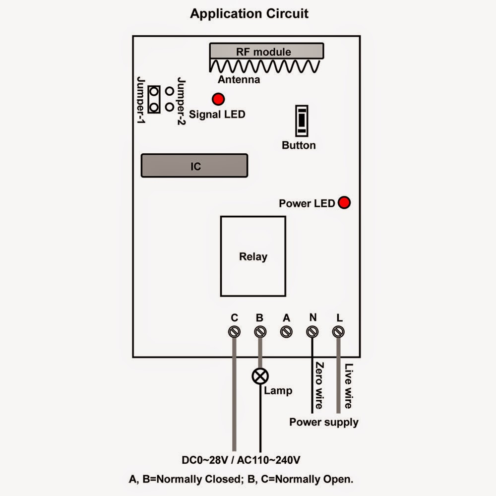 ac lamp is controlled by customized delay time rf remote