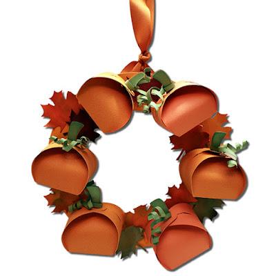 Bits Of Paper 3d Pumpkin Wreath