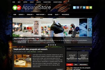 Apparel Store Blogger Theme