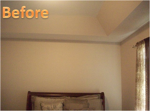 Key interiors by shinay before and after client 39 s master for Bedroom tray ceiling paint ideas