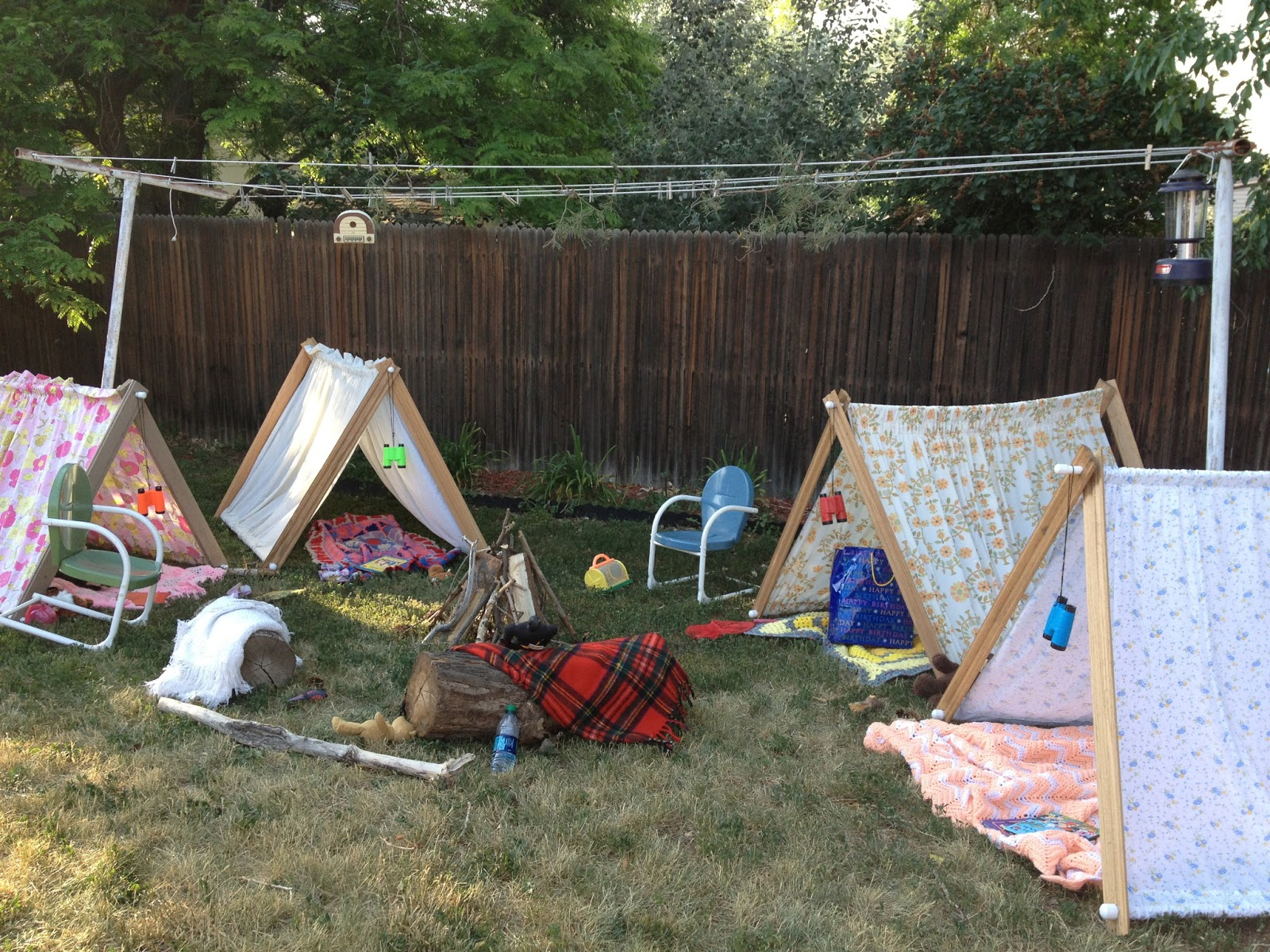 Camping In The Backyard Birthday Party : Savvy Style, Mindful Home Backyard Camping Party