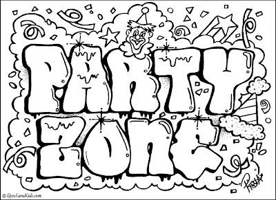 party_zone_Graffiti_design_coloring
