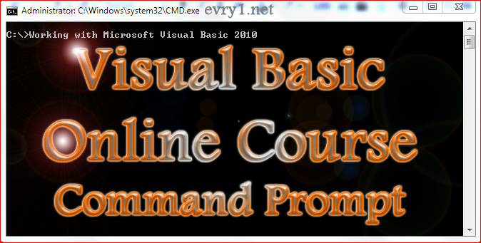 Visual Basic Online Course: Visual Basic 2010 Read/Write Command Prompt