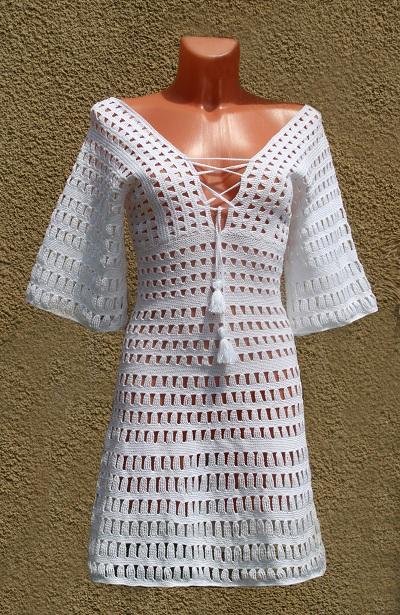 Вязаное крючком платье на заказ
