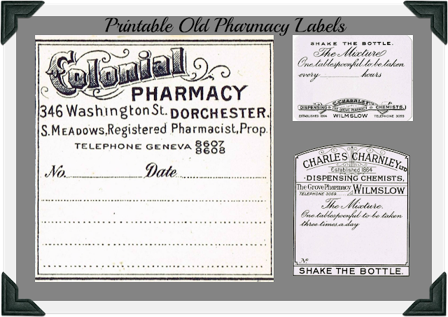 vintage pharmacy labels