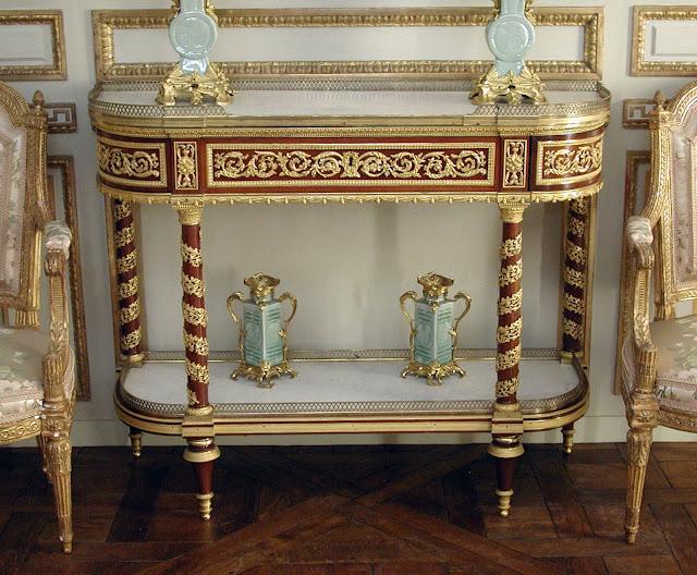 Table, Side (Commode Servante or Commode Desserte) Jean-Henri Riesener,  ca. 1790, Anichkov Palace, St. Petersburg, Russia (Czarina Maria Feodorovna) Empress Maria Feodorovna