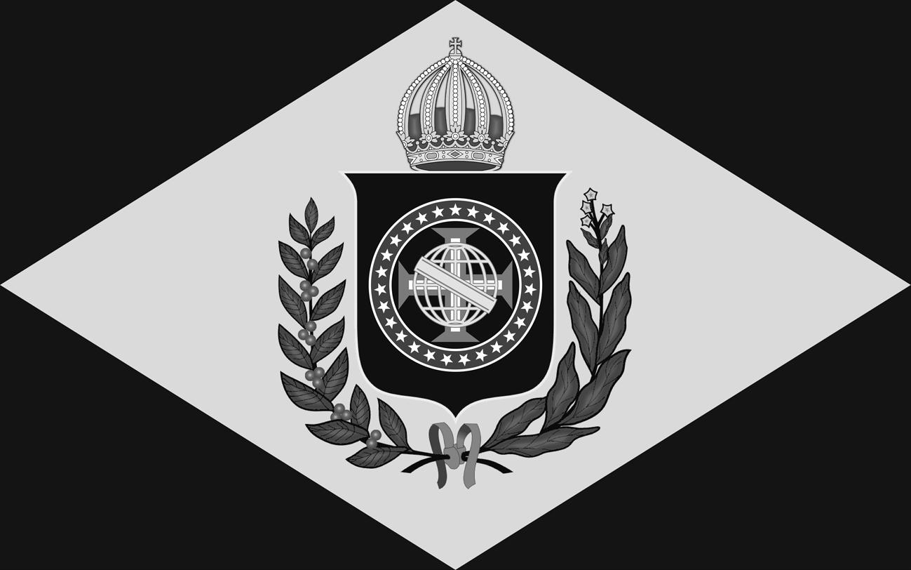 Bandeira do Brasil Imperial - Modelo (10 X 16) Monocromático em B & W