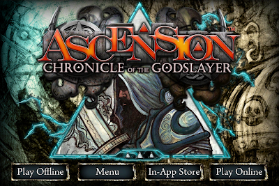 Ascension Chronicle of the Godslayer title screen