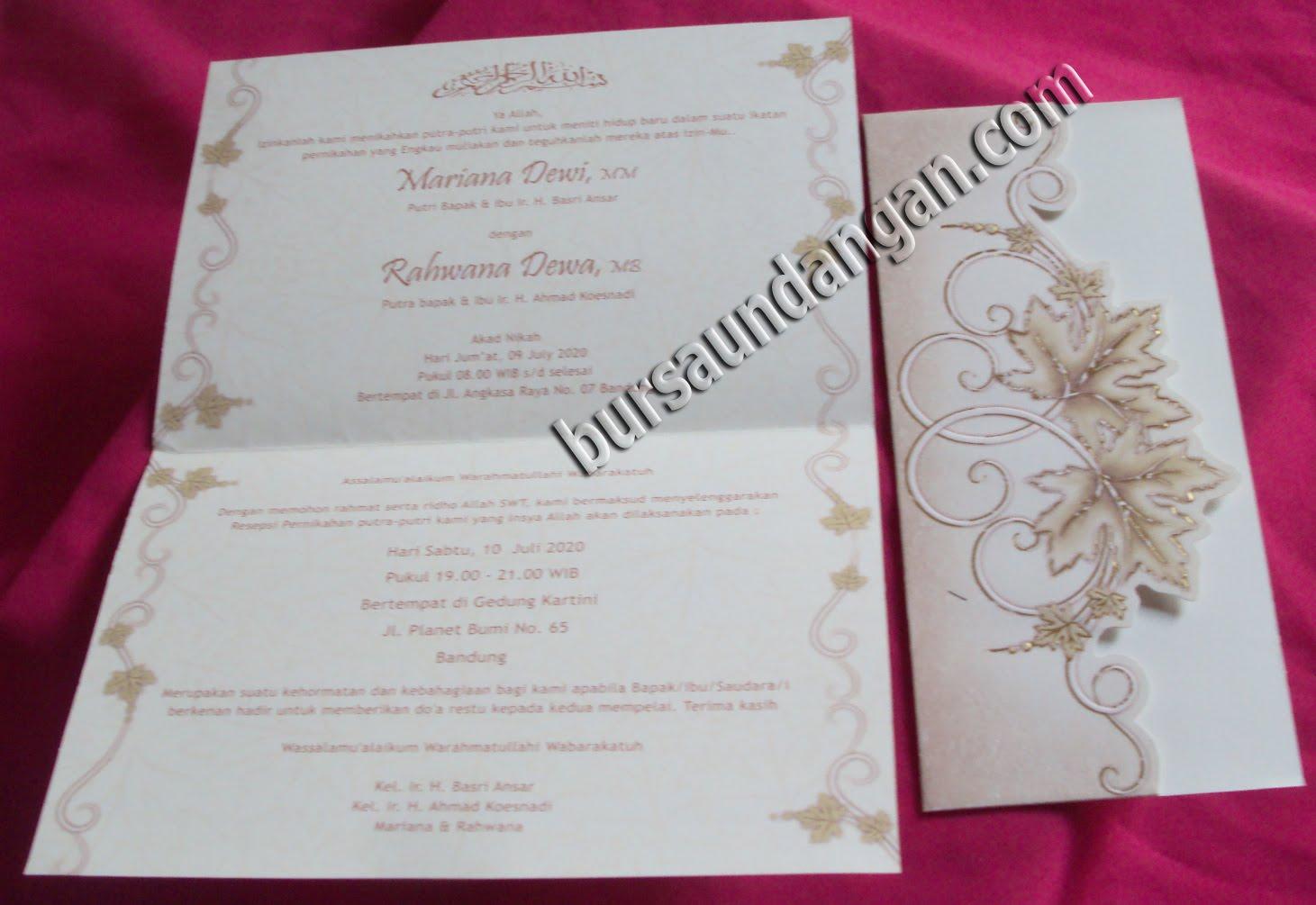 UNDANGAN Kartu Undangan Pernikahan Desain Undangan Pernikahan