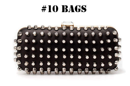 studded clutch, studded bag