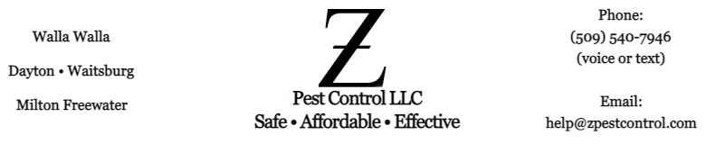 Ants, Spiders, Mice, Weeds - Z Pest Control LLC, Walla Walla, WA