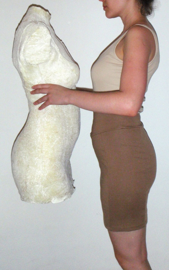 me and self made polyurethane Dress Form