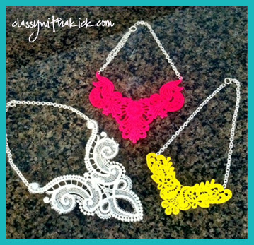 Neon Lace Bib Necklaces